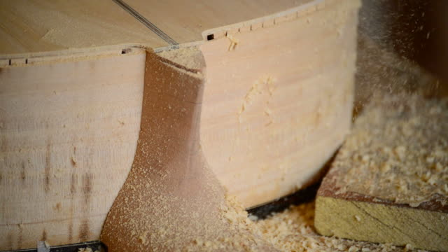 Wood chips and sawdust video