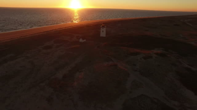 Wood End Lighthouse By Drone video