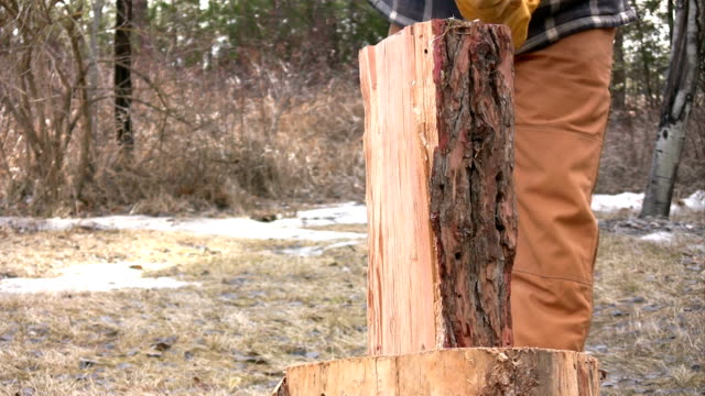 木製分離のクローズアップ - 薪点の映像素材/bロール