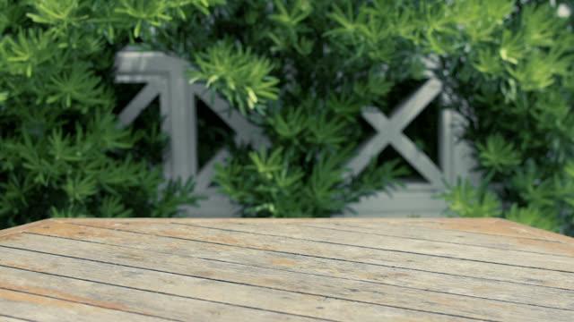 自然のパターン テクスチャと木製のテーブル フロア。空のテンプレートの板は、4 k 解像度を持つバック グラウンドとして使用できます。 - 木目点の映像素材/bロール