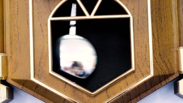Wooden ancient clock