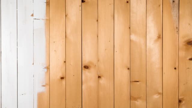 Wooden boards staining white Wooden boards staining white, stop motion animation timber stock videos & royalty-free footage