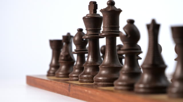 wooden chess game.