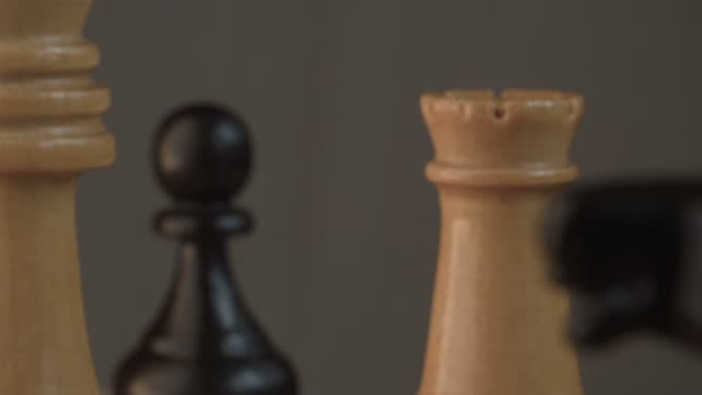 Wooden classic chess pieces