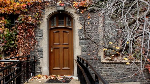 Wooden door. video