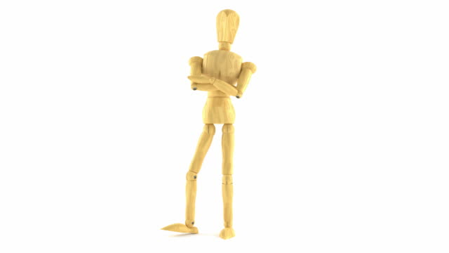 Wooden dummy waiting video