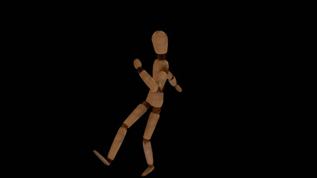 Wooden Human Mannequin dancing in loop, with alpha channel Loop animation of a  wooden Human Mannequin Alpha channel will be included when downloading the  Apple ProRes 4444 file only marionette stock videos & royalty-free footage