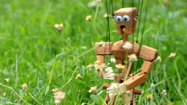 wooden marionette wooden marionette marionette stock videos & royalty-free footage