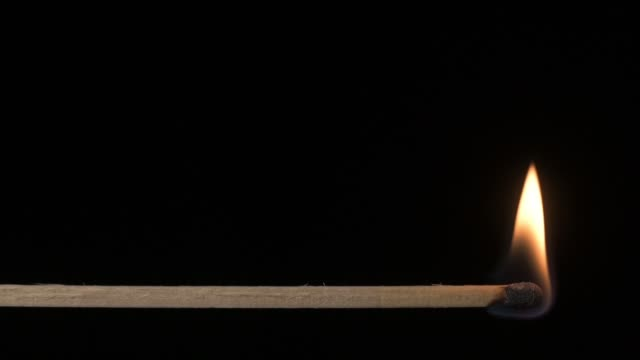 Wooden Match Lighting Slow Motion video