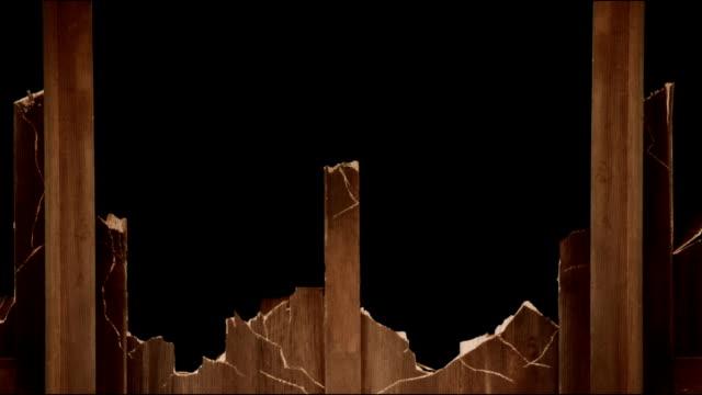 Wooden panel break down 2 video