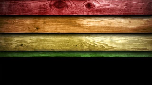Wooden Panels Animation - Rainbow (HD 1080) video