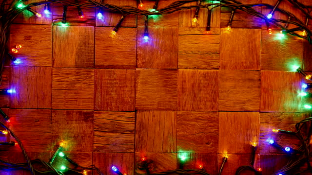 Wooden rustic. Christmas background. video