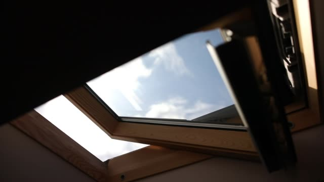 Wooden skylight window