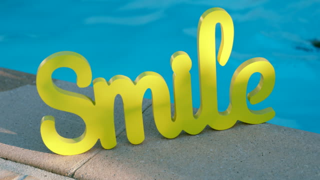Wooden Word SMILE Sign