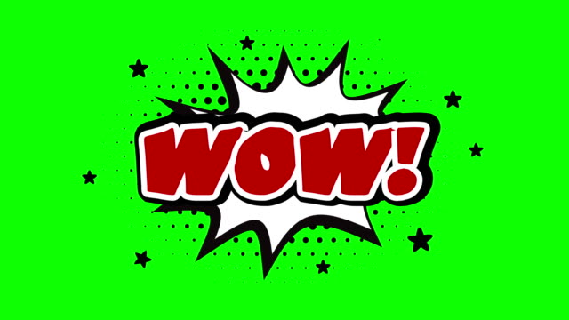 WOW! word animation over a chroma key background WOW! Pop Art Style Expression over a chroma key background speech bubble stock videos & royalty-free footage