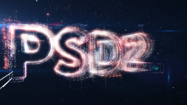 PSD2 word animation