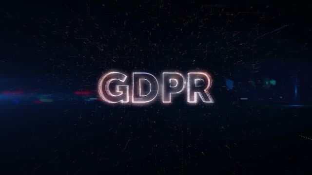 GDPR word animation An animation of word
