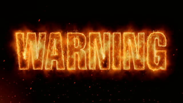 WARNING Word Hot Burning on Realistic Fire Flames Sparks And Smoke continuous seamlessly loop Animation Word Hot Burning on Realistic Fire Flames Sparks And Smoke continuous seamlessly loop Animation warning sign stock videos & royalty-free footage