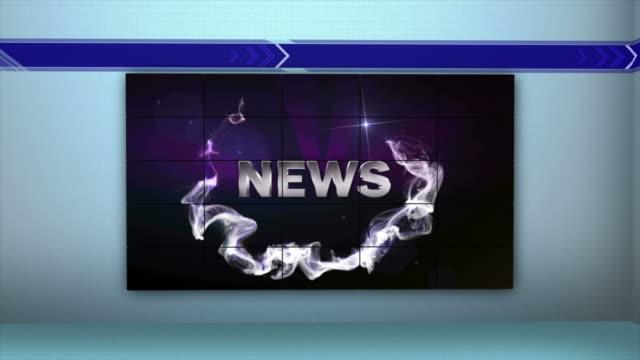 stockvideo's en b-roll-footage met nieuws word in monitors, 4k - magazine mockup