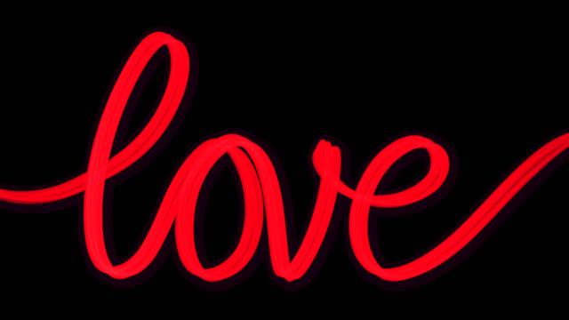 Word Love Written Red Transparent
