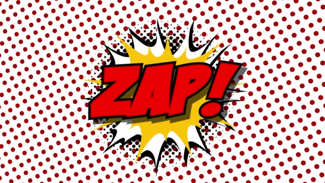 ZAP - word speech balloons comic style animation video