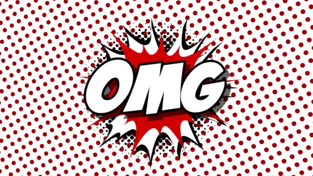 OMG - word speech balloons comic style animation video