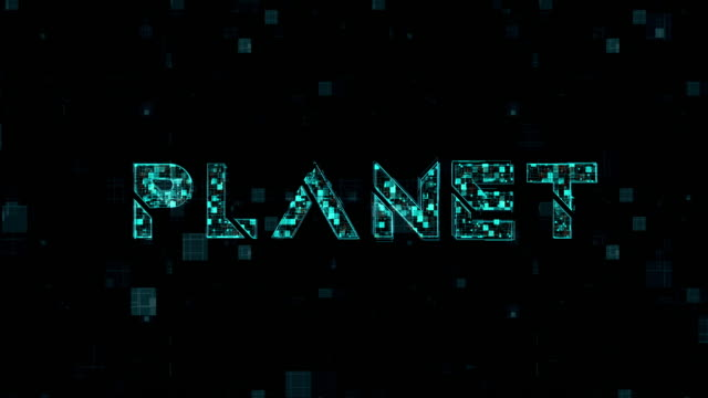 Word title of Planet on backgrounds