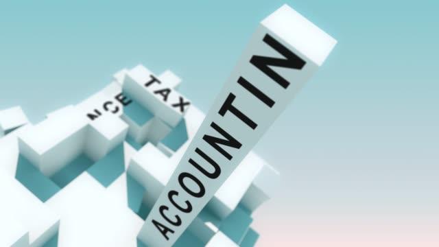 vídeos y material grabado en eventos de stock de planificación financiera palabras animadas con cubos - planificación financiera