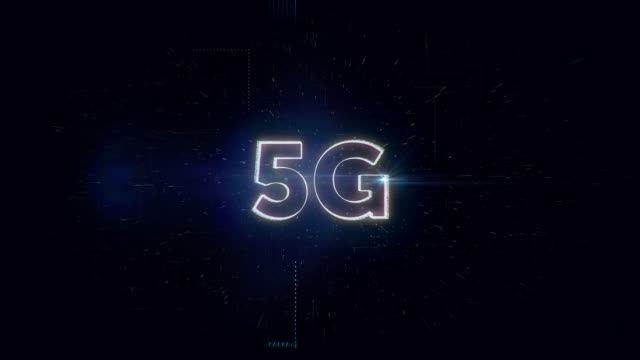 5G words animation video