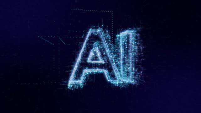 aiワードアイコンデジタルコード技術の背景 - ai点の映像素材/bロール