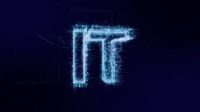 IT words icon digital code technology background