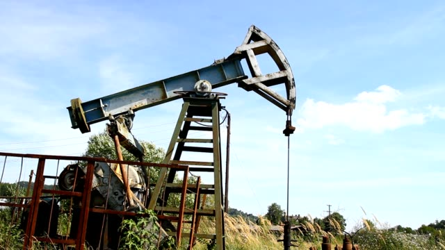 Work of oil pump jack video