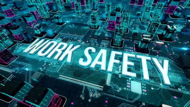 Work safety with digital technology concept Digital city, diversity of business, technology and internet concept occupational safety and health stock videos & royalty-free footage
