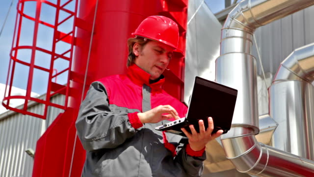 Worker control devices in a Heating Plant video