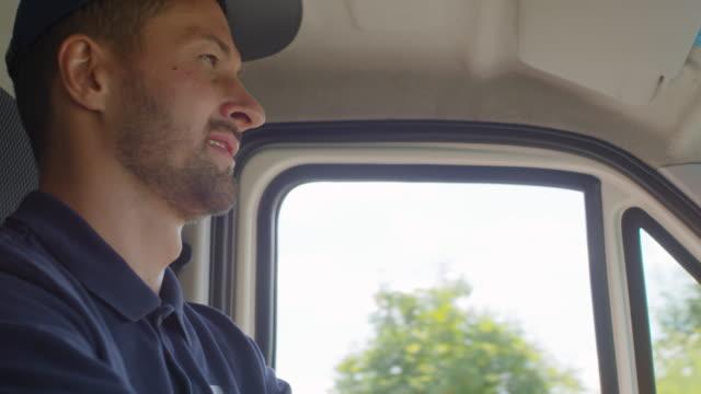 Worker Driving Van