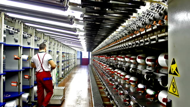 Worker in the textile industry video