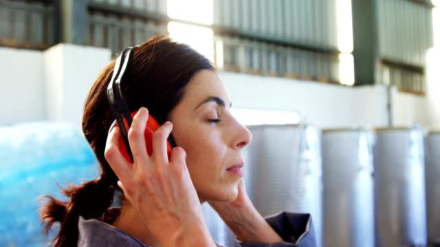 Worker wearing ear muff video