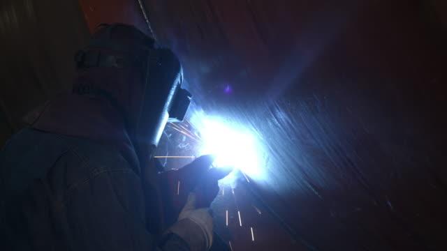 Worker Welding video