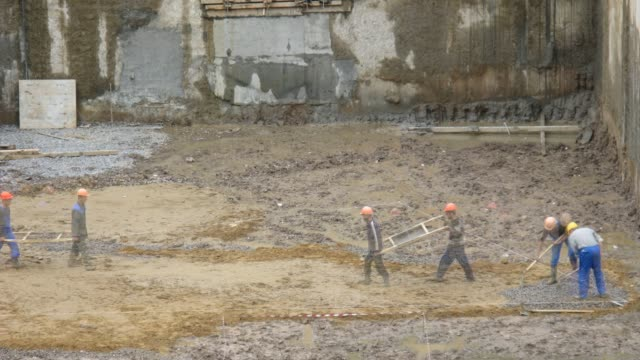 Workers construction time lapse video