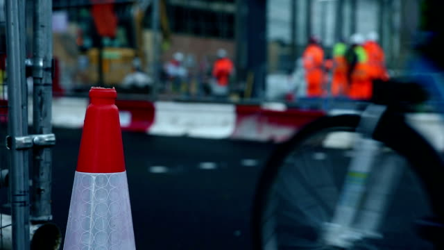 workers repairing road - road signs stock videos and b-roll footage