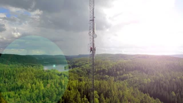 arbeta på hög höjd - telecom bildbanksvideor och videomaterial från bakom kulisserna