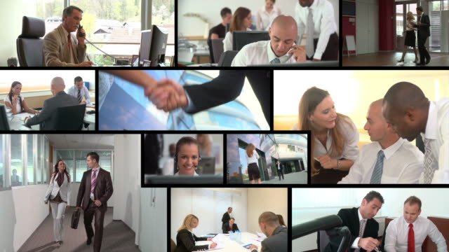 HD MONTAGE: Working Business People