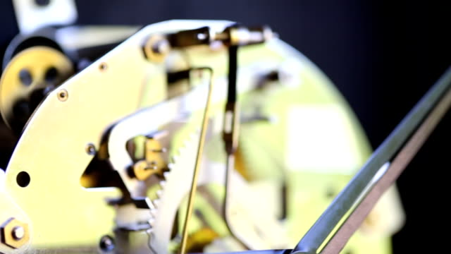 Working clock mechanism ,Dolly shot video