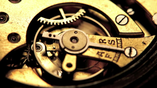 Working clock mechanism. video