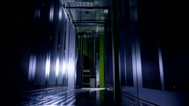 Working Data Center Full of Server Racks. Working Data Center Full of Server Racks. 4K. supercomputer stock videos & royalty-free footage