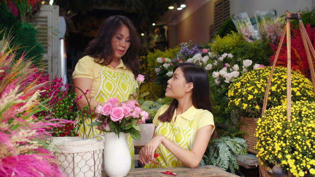 Working Day in Flower Store