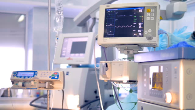 Working equipment for patients vital signs monitoring.