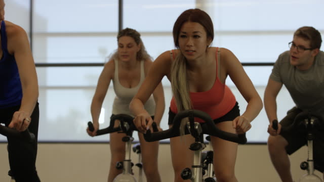Working Hard at Indoor Cycling video