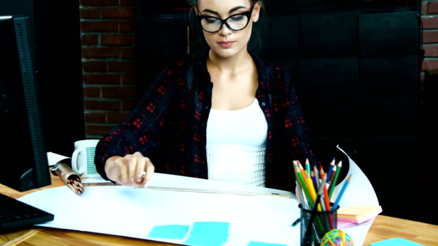 Working in office alone concept Working in office, getting job done, paper work, portrait only young women stock videos & royalty-free footage