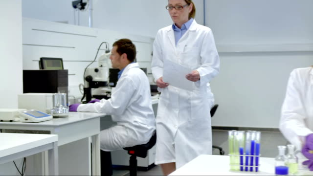 WS DS Working In The Laboratory video